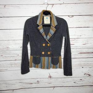 Anthropologie Sparrow 100% Lambs Wool Blazer XS